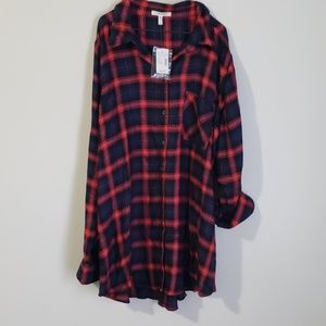 Maurice's Tunic style Flannel Top